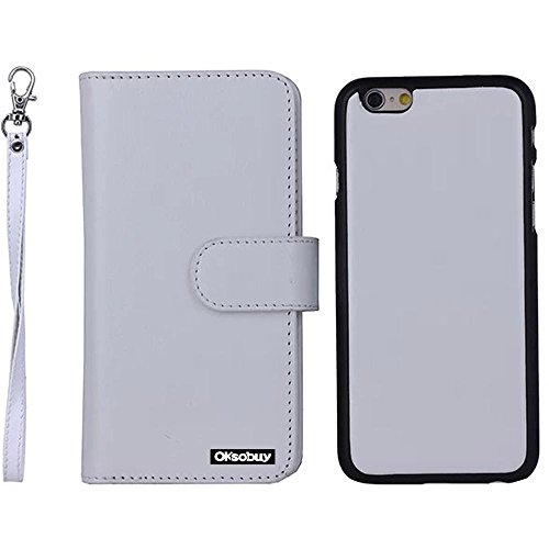 Oksobuy® Apple Iphone 6 Plus Case Iphone 6 Plus (5.5 Inch) Case High Quality And Durable Fashion Luxury Designer Four Color Snow Textures Pu Leather Wallet Type Magnet Bracket Combo Flip Case Cover With Credit Card Holder Slots Fit For Apple Iphone6 Plus