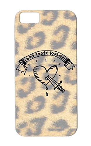 Tpu Shock-Absorbent Blood Pierce Port Marine Sword Tattoo Proll Kitsch Tasteless Heart Miscellaneous Funny Marine Port Blood Stitch Tattoo Tattooartist Bad Love Knife Prollig Dagger Tattoostudio Sailor Bad Taste For Iphone 5C Black Case
