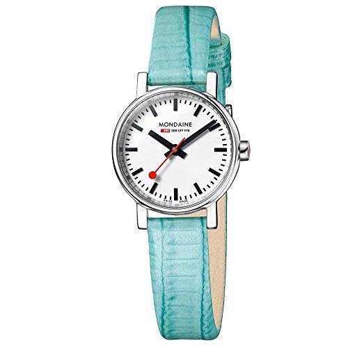 Mondaine EVO Petite A658.30301.11SBF Reloj de Pulsera para mujeres Look Estación de Trenes
