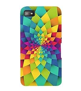 GEOMETRICAL FLOWER PATTERN 3D Hard Polycarbonate Designer Back Case Cover for Blackberry Z10