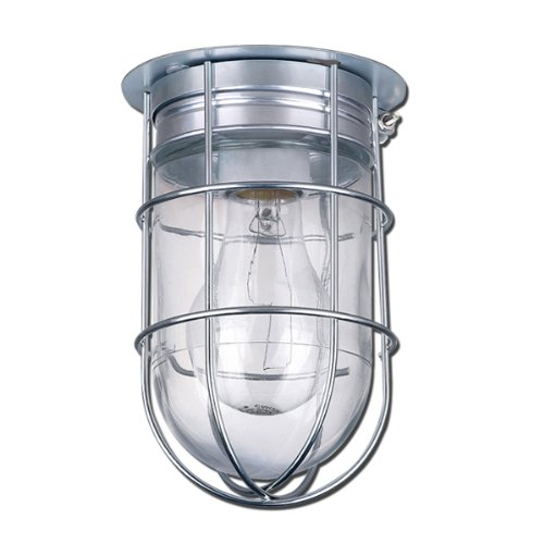 Canarm Ceiling/Wall Barn Light with Cage - 120V, Model# BL04CWG New eBay