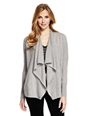 M&S Collection Pure Cashmere Waterfall Cardigan