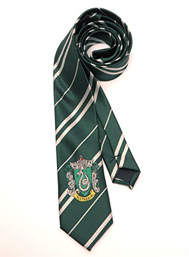 Harry Potter Cosplay Slytherin Seide Emblem Grün Krawatte Tie Kostüme Accessory