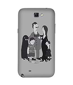 Adam Family Samsung Galaxy Note 2 Case