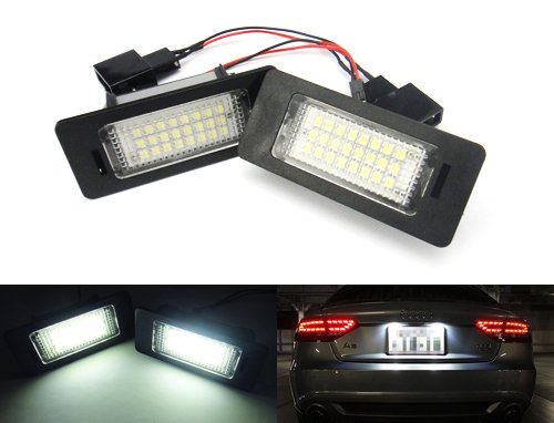 2x-audi-a3-a4-s4-a5-s5-q5-a6-a7-tt-led-licence-number-plate-light-kit-white-no-error-passat-r36-jett