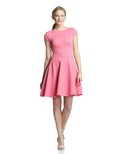 Julia Jordan Women's Cap Sleeve Flared Dress  [Dusty Pink]