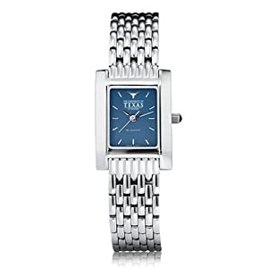 University of Texas Ladies Swiss Watch - Blue Quad Watch with Bracelet by M.LaHart & Co.