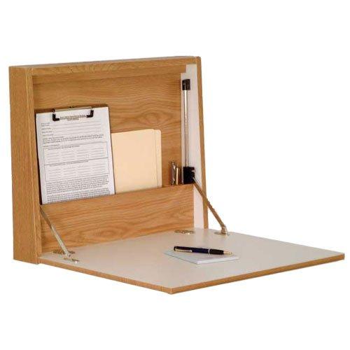 Wooden Mallet Wd17-21 Fold-Away Wall Desk In Light Oak From Abc Office