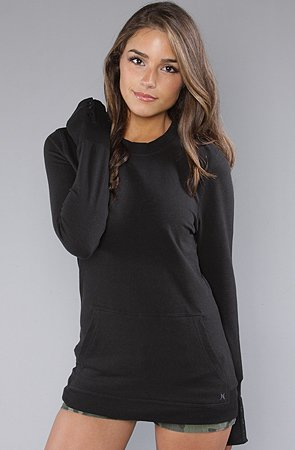 Hurley The Ahoy Crew Sweatshirt in Black hood ,Sweatshirts for Women