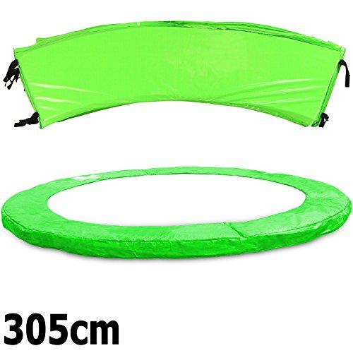 Premium Federabdeckung neongrün 183- 244- 305- 366- 396- 427- 457- 488 cm für Trampolin Randabdeckung PVC - UV beständig (305)