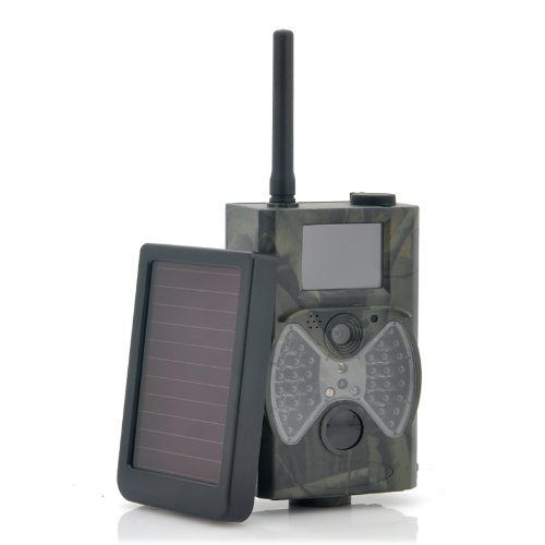 """Game Hunting Camera With Solar Panel """"Solar-Shot"""" - 1440X1080, Pir Motion Detection, Night Vision, Mms Viewing"""