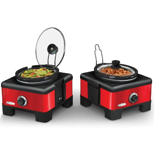 2 X 2.5QT Linkable Slow Cooker System