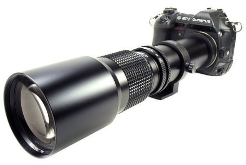 Bower 500Mm Preset Telephoto Lens For Olympus Evolt Dslr 410,420,500,510,520,600,620