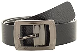 Jackblack Men's Leather Belt (SEVP015, Black, 36)