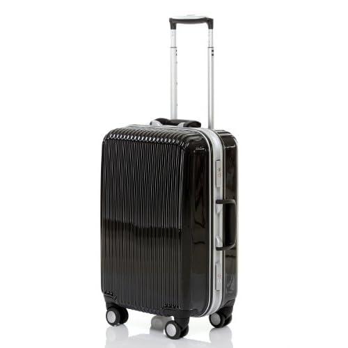 [トラベルハウス]Travelhouse スーツケース TSAロック  キャリーバッグ  フレーム仕様 8輪 (M, ブラック)