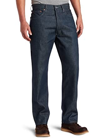 Levi's Men's 501 Colored Rigid Shrink-to-Fit Jean (Clearance), Blue Green Rigid, 35x34