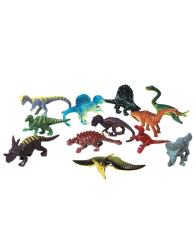 Dozen Small Toy Dinosaurs: 2.5 inch Plastic Toy Dino Figures - 1