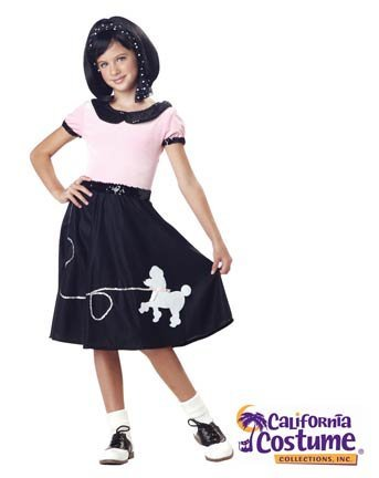 50's Hop with Poodle Skirt Costume: Girl's Size 10-12