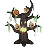 Halloween Airblown Inflatable Scary Tree with Pumpkins
