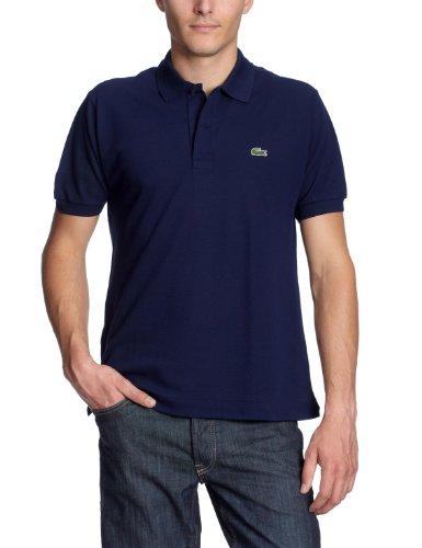 Lacoste L1212-00 - Camiseta deportiva de manga corta para hombre, Azul, Large (Talla del fabricante: 52/T5)