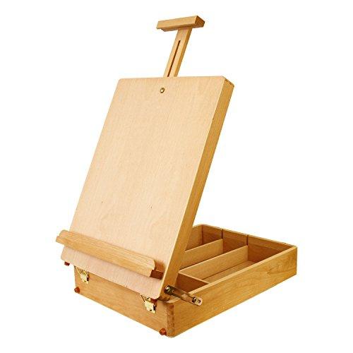 US Art Supply Newport Large Adjustable Wood Table