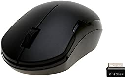 ShhhMouse Wireless Silent Mouse with Batteries, Black