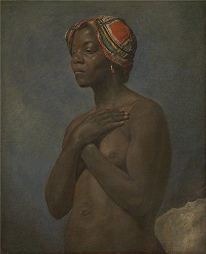 'French A Black Woman ' Oil Painting, 8 X 10 Inch / 20 X 25 Cm ,printed On Perfect Effect Canvas ,this Beautiful Art Decorative Canvas Prints Is Perfectly Suitalbe For Foyer Gallery Art And Home Decor And Gifts (French Classicism compare prices)