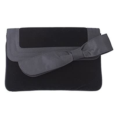 Target Velvet Large Bow Clutch - Black : Target from target.com