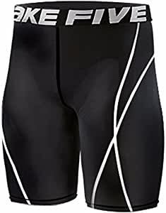 Take Five Men's 022 Skin Tights Compression Leggings Base Layer Running Short (S)