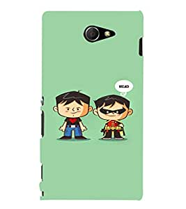 EPICCASE Cute Little Heros Mobile Back Case Cover For Sony Xperia M2 (Designer Case)