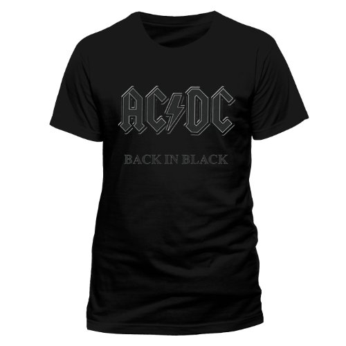 AC/DC Men's Black in Black Short Sleeve
