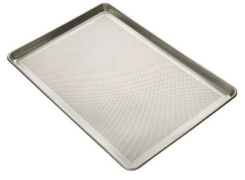 Focus Foodservice Commercial Bakeware 16-Gauge Aluminum Perforated Bottom-Sheet Pan, Full Size