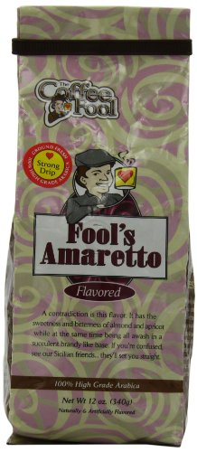The Coffee Fool Drip Grind Coffee, Fool'S Amaretto Strong, 12 Ounce