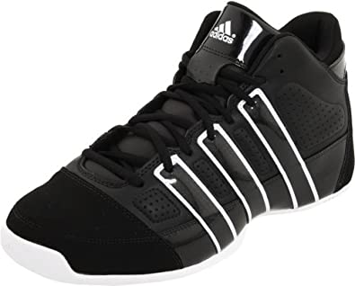 adidas Men's Commander Lite TD Basketball Shoe,Black 1/Black 1/Running White,6.5 D US