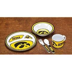 Buy NCAA Iowa Hawkeyes 5-Piece Kids' Dish Set by BSI