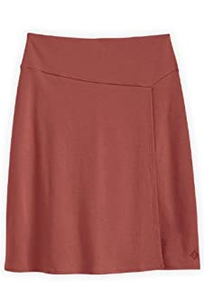 Fair Indigo Organic Pima Cotton Faux Wrap Skirt