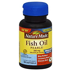 Nature made fish oil pearls 500 mg softgel 90 for Nature made fish oil pearls