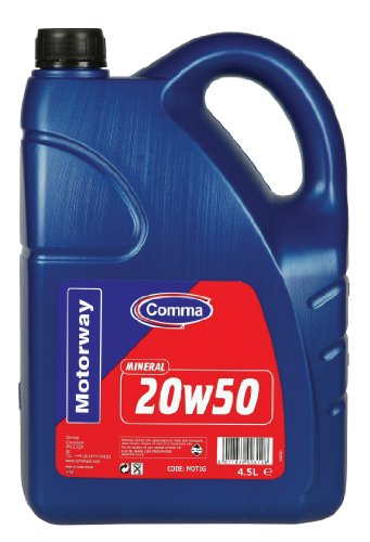Comma MOT1G 4.5L Motorway 20W50 Mineral Motor Oil