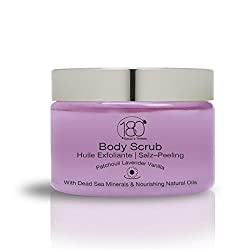 DEAL OF THE DAY - 180 Cosmetics Salt and Oil Body Scrub Patchouli Lavender Vanilla - Nourishing and Exfoliating Dead Sea Salt - BEAUTY DEALS