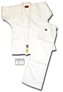 SHOGUN white bleached judo uniform/suit/gi, Gold Plus quality, size 155cm