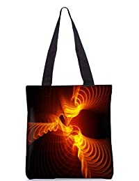 Snoogg Abstract Design Digitally Printed Utility Tote Bag Handbag Made Of Poly Canvas - B01C8M63B2