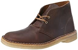 Clarks Men\'s Desert Boot Core Beeswax Leather High-Top Suede Boot - 10.5M
