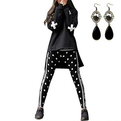 Sitengle Donna Felpe con Cappuccio Stampa Sanscrito Hoodies Sweatshirt Cappotti Tops Modelli di Coppia--Donna