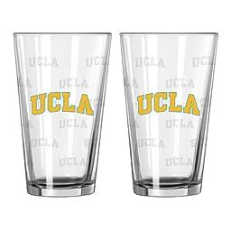 NCAA UCLA Bruins Satin Etch Pint Glass, 16-ounce, 2-Pack
