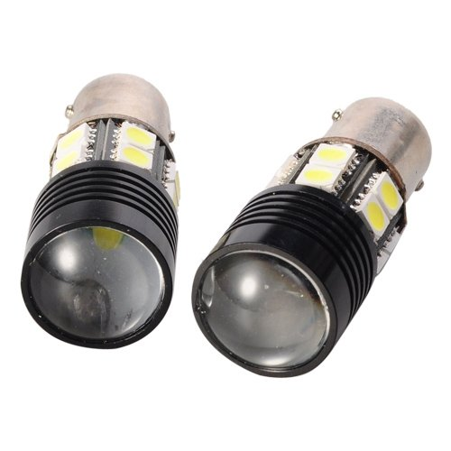 1156 8W 13-Led 12V White Light Car Brake Backup Light - Pair