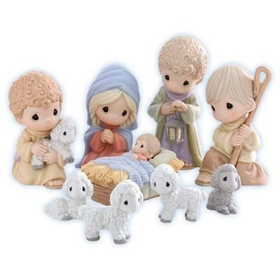 Precious Moments Set of 9 Nativity Figurines