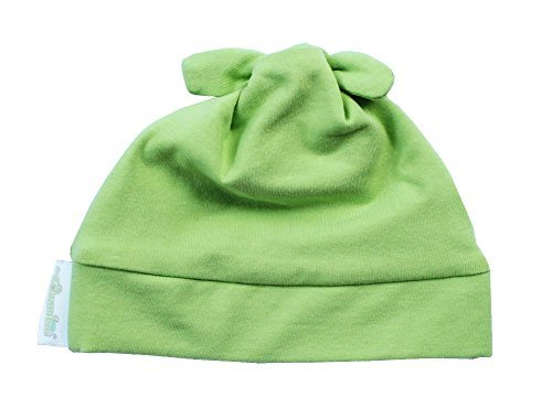 Woombie Cotton Double Knot Beanie Hats, Keylime, 0-6m - 1