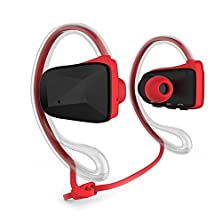 buy Sports Waterproof Sweat Proof Headphone Wireless Apt-X Bluetooth 4.0 Music Stereo Headset Earbud With Nfc&Dual Microphone And Answer Calls-For Ipod Touch 5,Iphone 5,5S,5C,Iphone 6,6 Plus,Samsung Galaxy S5 ,S4,S6, Note 3,Note 4,Ipad Air 2, Google,Sony,Lg L