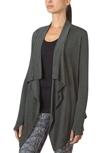 MPG Julianne Hough Women's Wisdom Oversized Cardigan M Htr Charcoal