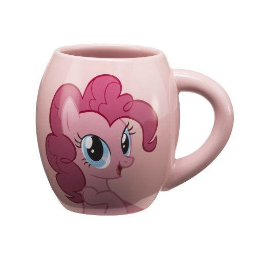 Vandor 42161 My Little Pony Pinkie Pie 18 Oz Oval Ceramic Mug, Pink